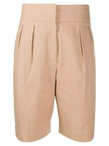 Brunello Cucinelli crinkled effect knee-length shorts - NEUTRALS
