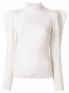 Manning Cartell structured shoulder cut-out detail sweater - White