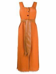Nanushka Rita belted maxi dress - ORANGE