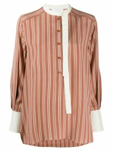 Chloé striped silk shirt - NEUTRALS