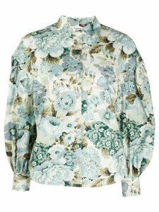 P.A.R.O.S.H. floral print shirt - NEUTRALS