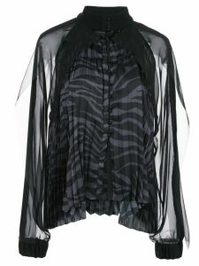Sacai pleated two tone blouse - Black