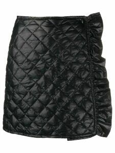Moncler quilted ruffle skirt - Black