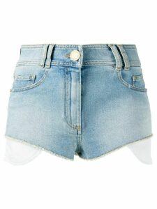 Balmain exposed pockets denim shorts - Blue
