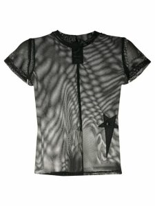 Rick Owens X Champion sheer mesh T-shirt - Black