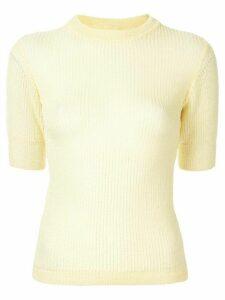 Cecilie Bahnsen short-sleeve silk jumper - Yellow