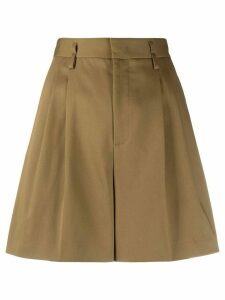 RedValentino pleated A-line shorts - Green