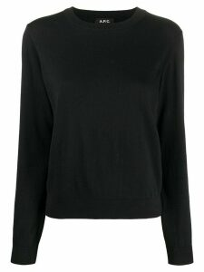 A.P.C. crew neck sweater - Black