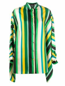 Gianluca Capannolo stripe batwing-sleeve shirt - Green