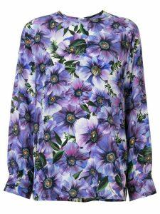 Dolce & Gabbana anemone print blouse - PURPLE
