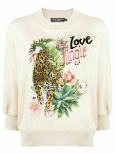 Dolce & Gabbana DG Love Jungle print sweatshirt - NEUTRALS