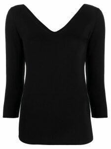 Majestic Filatures v-neck T-shirt - Black