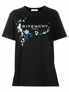 Givenchy floral logo T-shirt - Black
