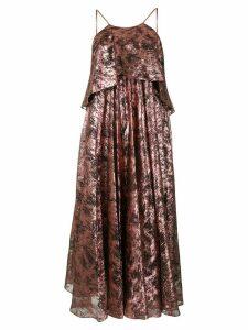 Halpern metallic oversized dress - PINK