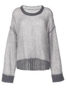 Maison Margiela loose knit jumper - Grey