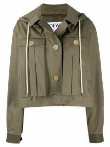 Loewe military hooded jacket - Green