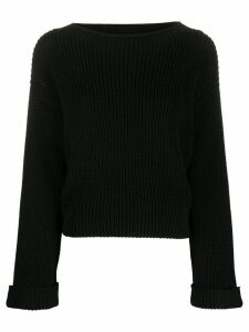 Semicouture ribbed knit sweater - Black
