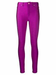 Versace Jeans Couture mid-rise skinny trousers - PURPLE