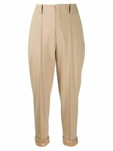 Undercover high waisted cropped trousers - NEUTRALS