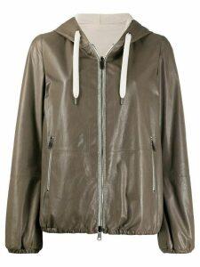 Brunello Cucinelli reversible hooded jacket - Grey