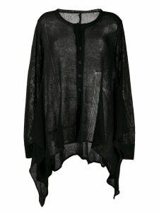 Yohji Yamamoto waterfall-hem cardigan - Black