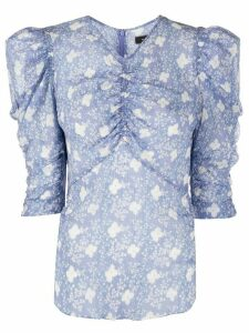 Isabel Marant ruched detail blouse - Blue
