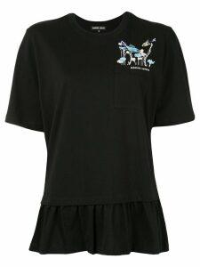 Markus Lupfer sequin-logo T-shirt - Black