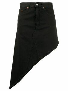 Mm6 Maison Margiela asymmetric denim skirt - Black