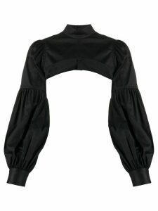 Comme Des Garçons Noir Kei Ninomiya cropped long-sleeve shirt - Black