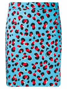 Love Moschino leopard print skirt - Blue