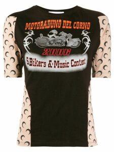Marine Serre graphic-print crew neck T-shirt - Black