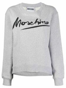 Moschino Logo Signature crewneck sweatshirt - Grey