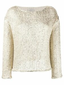Forte Forte slim-fit knitted jumper - NEUTRALS