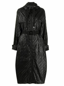Moncler Bouteille embossed logo trench - Black