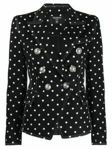 Balmain polka dot structured blazer - Black