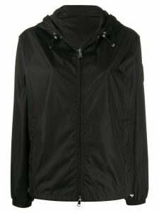 Moncler short zipped hooded jacket - Black