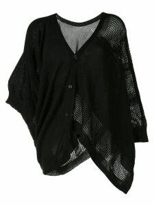 Y's asymmetric poncho-style cardigan - Black