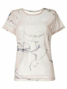 Y's ink print T-shirt - NEUTRALS