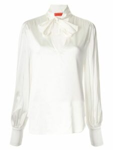 Manning Cartell long-sleeved pussy-bow blouse - White