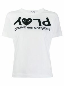 Comme Des Garçons Play PLAY logo T-shirt - White