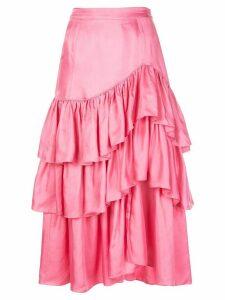 Cinq A Sept Rowan ruffle skirt - PINK
