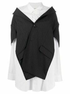 Junya Watanabe oversized hybrid shirt - Black