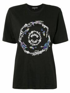Markus Lupfer sequined logo-print T-shirt - Black
