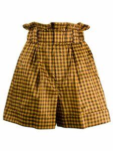 Fendi gingham paperbag shorts - Yellow