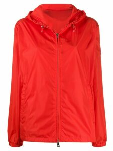Moncler short hooded zipped jacket - Red