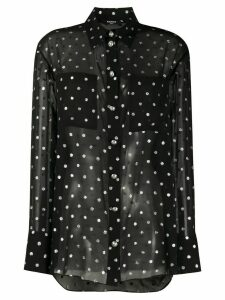 Balmain polka-dot long-sleeved shirt - Black