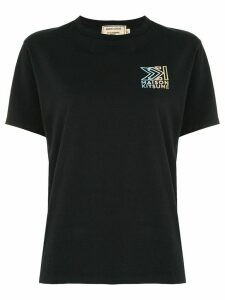Maison Kitsuné embroidered logo T-shirt - Black