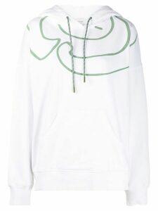 Société Anonyme printed hooded sweatshirt - White