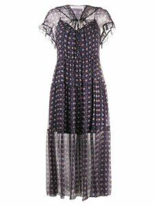 See by Chloé geometric print maxi dress - Blue