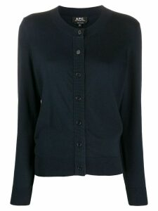 A.P.C. round neck cardigan - Blue